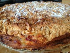 O Clube do Bolinho: Tarte/ bolo de maçã com bolachas caramelizadas