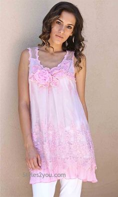 Jah Jah Tunic In Pink, Women's Online Designer Boutique, Boho Chic Vintage Women's Clothing from Styles2you.com