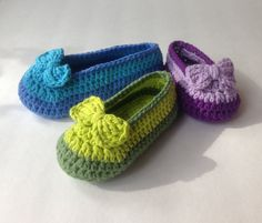 Crochet Pattern Shoe with bow for Girls Two layer by nuttypatterns, $5.50