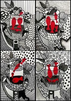and white_F Grafiken mit Matisse montage Middle School Art, Art School, Arte Elemental, Classe D'art, 6th Grade Art, Ecole Art, School Art Projects, Art Lessons Elementary, Art Lesson Plans