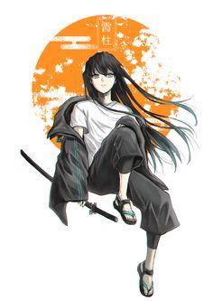 Read Kimetsu No Yaiba / Demon slayer full Manga chapters in English online! Manga Anime, Anime Demon, Manga Art, Anime Guys, Anime Art, Anime Wolf, Female Anime, Demon Slayer, Slayer Anime