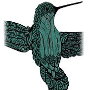 Hummingbird Teal Artwork - Put on any item....the choice is yours (iPad cases, apparel, wristlets, hats, puzzles, etc.)!