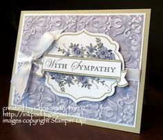 Wisteria Sympathy by inkpad - Cards and Paper Crafts at Splitcoaststampers