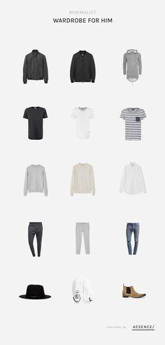 Absolut im Trend - Die Minimalist Wardrobe - Verschiedene Kombinationen mit nur 15 Teilen für Männer