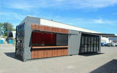 Buy or hire new or used side opening shipping containers for sale in Brisbane. Shipping Containers Brisbane is an Australian leading supplier of high-quality shipping containers. Get quote here! Shipping Container Sizes, Shipping Container Homes Australia, Converted Shipping Containers, Shipping Containers For Sale, Container Shop, Brisbane, Perth, Planning Permission