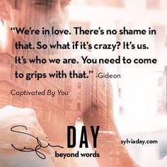 """By the time we see Gideon again we'll be saying """"Gideon who?"""" :-( https://www.facebook.com/AuthorSylviaDay?fref=photo"""
