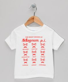Take a look at this White 'Many Moods of Magnum P.I.' Tee - Toddler & Kids by American Classics on #zulily today!