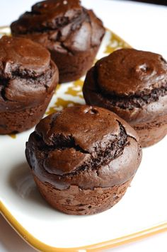 Giant Flourless Chocolate Cashew Muffins - Always Order Dessert