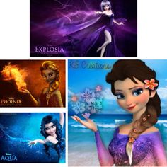 Elsa with different powers!   A collage of many people's edits.