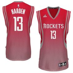 adidas James Harden Houston Rockets Resonate Fashion Swingman Jersey - Red/Silver