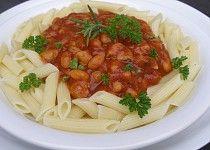Omáčka z pečených rajčat, fazolí a kuřecího masa Spaghetti, Ethnic Recipes, Food, Essen, Meals, Yemek, Noodle, Eten