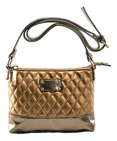 Look at this Bronze Cara Crossbody Bag on #zulily today!