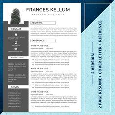 21 Resume bundle Best seller resume template resume | Etsy Creative Cv Template, Modern Resume Template, Resume Words, Resume Writing, Microsoft Word, Cv Simple, Teacher Resume Template, One Page Resume, Change Image