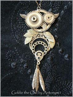 Goldie, the Owl pendant by Antonymi1