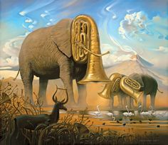 amazing#painting#surreal#art#elephants