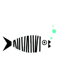 Punt i ratlla / Punto y raya / Point and stripe - Рисунки - Fabric Painting, Painting & Drawing, Fish Art, Grafik Design, Paint Designs, Doodle Art, Screen Printing, Art Projects, Crafts