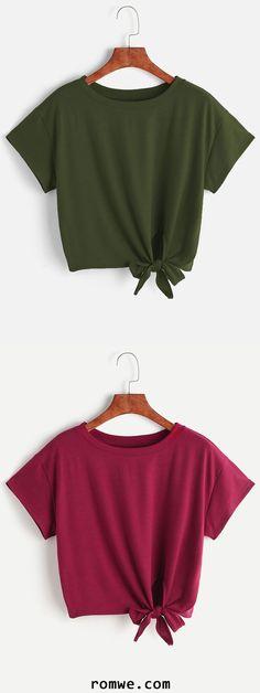 Tie Side Crop T-shirt