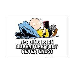 CafePress - Charlie Brown - Reading Is An Ad - Mini Poster Print: Like a poster -- only smaller! Our high quality one page prints are printed on glossy, 12 point paper and measure x I Love Books, Good Books, Books To Read, Reading Quotes, Book Quotes, Reading Books, Family Quotes, Charlie Brown, Snoopy Classroom