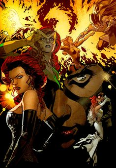Marvel Comics Black Characters | Comic Book Artwork • Jean Grey, Marvel Girl, The Black Queen, and...
