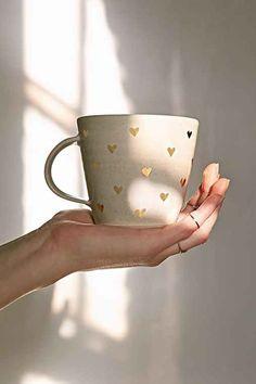 Pickle Pottery Heart Mug- Grey One