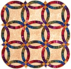 Double Wedding Ring part 2 quilt video by Shar Jorgenson Quilting Tips, Quilting Tutorials, Quilting Designs, Wedding Ring Quilt, Wedding Quilts, Double Wedding Rings, Double Ring, Heart Stencil, Queen Size Quilt