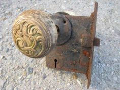 Late 1800s or early 1900s vintage embossed metal door knobs and ...