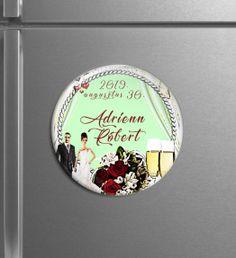 Egyedi hűtőmágnesek - Menyaklub köszönőajándék, esküvői mágnes, kreatív köszönő ajándék, save the date card. kör mágnes. Minden elképzelést valóra váltunk! Save The Date Card, Minden, Decorative Plates