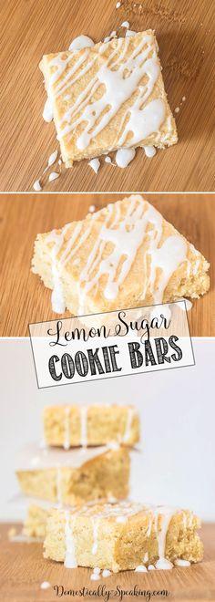 Grandma's Lemon Sugar Cookie Bars | Easy Bar Cookies | Chewy with a Lemon Glaze