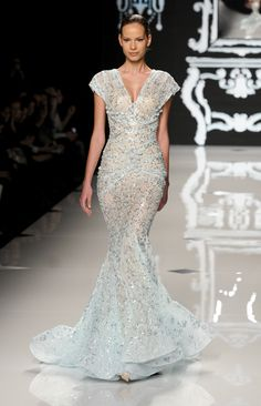 Abed Mahfouz. Love the silhouette. I would love it in cobalt blue...maybe on a cruise?