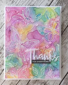 The @simonsaysstamp Beautiful Day Stamp set is gorgeous! The entire card kit was amazing. #simonsaysstamp #butterflies #distressoxideink…
