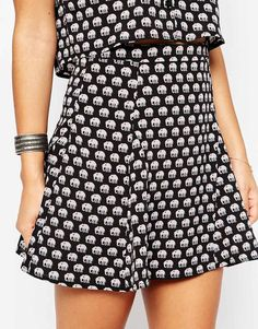 Influence Elephant Print Skater Skirt