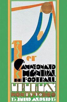 1930 FIFA World Cup Uruguay, official poster