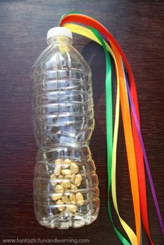 Rainbow & Bits of Gold Streamer for Active Play - Cute for St. Patrick's Day.