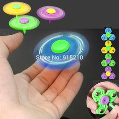 4Colors Tri Spinner Hand Fidget Toy Spinner with Support rod EDC Finger gyro Gags Toys Anti Stress Toys For Autism ADHD kids #Affiliate