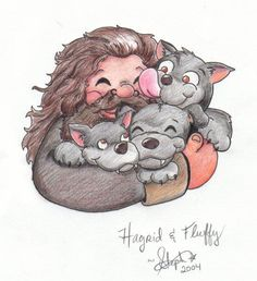 Hagrid and Fluffy.