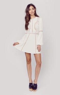 For Love & Lemons Penelope Mini Dress - Planet Blue