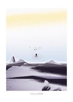 Iceland Poster Design, Graphic Design, Poster Shop, Art Day, Insta Art, Digital Illustration, Iceland, Digital Art, Character Design