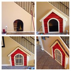 Dog House under the stairs!