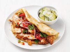 Indian Chicken Tacos recipe from Food Network Kitchen via Food Network