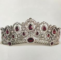 The Bagration Parure, worn by Natalia when she wed Gerald was originally made circa 1810 in France by the fore runner of Chaumet for Princess Ekatarina Bagration, said to be an ancestor of Natalia's.