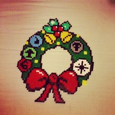 Magic the Gathering themed Christmas wreath - pinned by pin4etsy.com