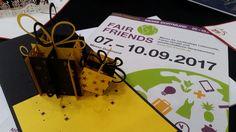 Bis zum 10.09.2017 findet ihr Cologne Cards | Pop-Up Karten noch auf der Fair Friends in Dortmund #faifriends #fairfriends2017 #fairerhandel #messedortmund #popupkarten #papierkunst #fairtrade #klappkarten #popupcards