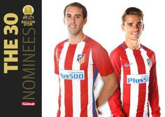 Griezmann y Godín, candidatos al Balón de Oro