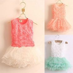 >> Click to Buy << 2-7Years Girls Flower Princess Dresses 2017 Summer sleeveless Rose floral Ball Pageant Birthday Wedding Dress Tutu dress #Affiliate