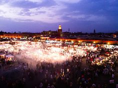 Jamaa el Fna at Night #flickr #photo #iphoneography #morocco