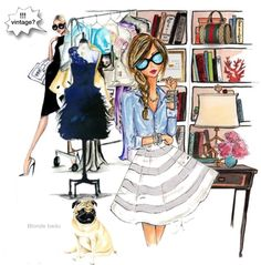 You know you're old when …. please read , caution ahead by blonde-bedu featuring a gucci tote bag ❤ liked on PolyvoreGucci tote bag / Polka Dot Pug Fashion Illustration Art Print