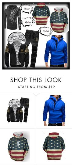 """""""Rosegal Mens Clothing"""" by alma-ja ❤ liked on Polyvore featuring men's fashion and menswear"""
