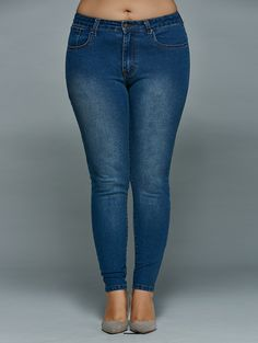 Plus Size Booty Lifter Rhinestone Capri Jeans, Plus Size Clothing ...