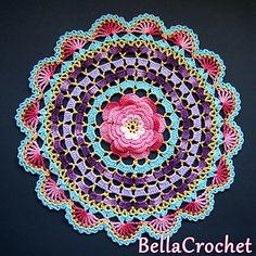 Craft Passions: Radiant Rose Mandala free crochet pattern