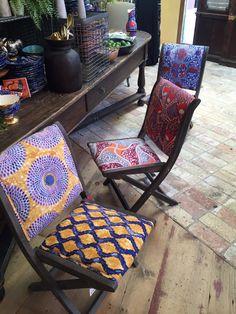 Love this vibrant ethnic chair